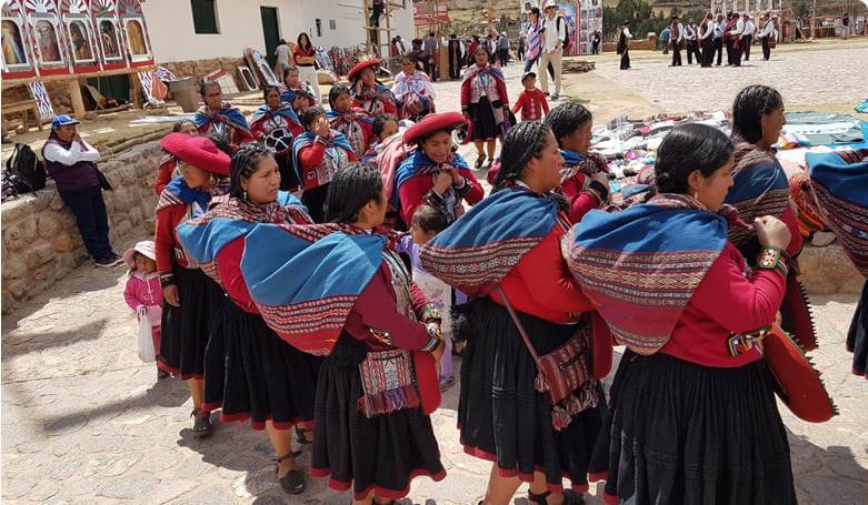 Indianie w Peru święto