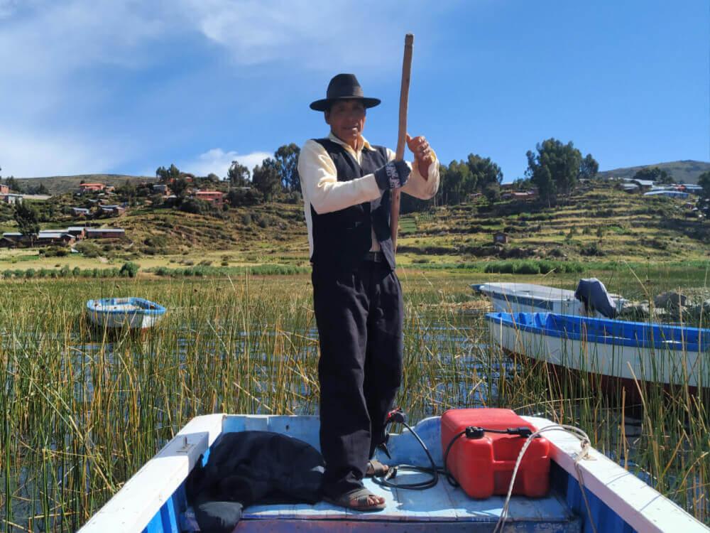 Indianin jezioro titicaca