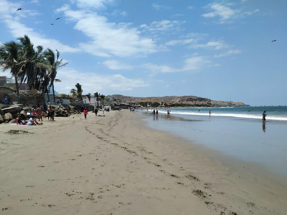 Mancora Peru. Główna plaża.
