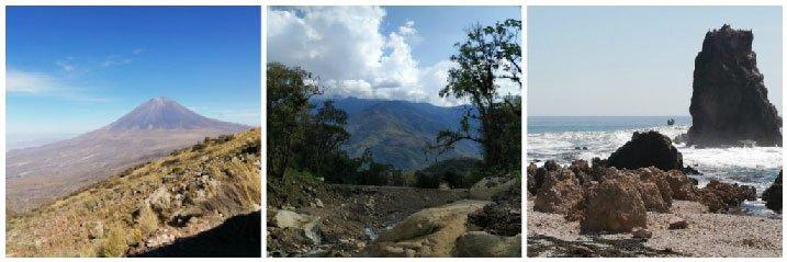 Peru sierra costa selva