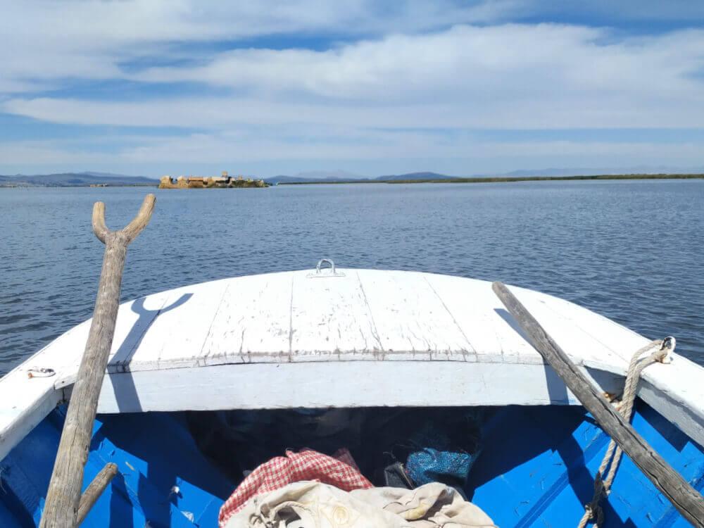 Droga na wyspy uros titino nad jeziorem titicaca