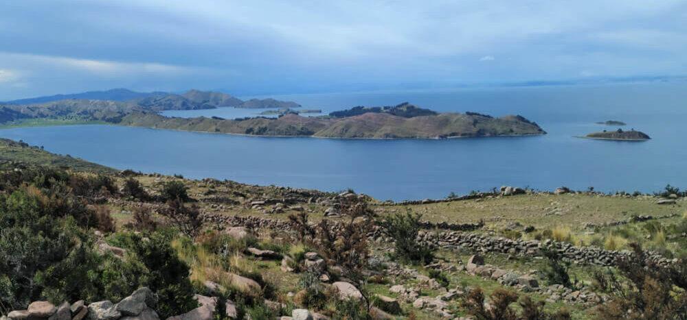 Widok na Jezioro Titicaca