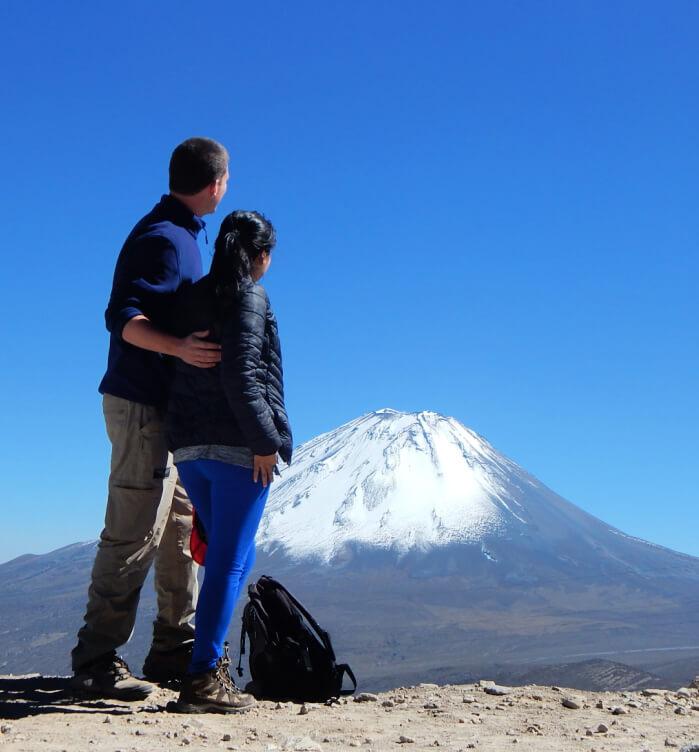 Peru wycieczka widok na wulkan misti